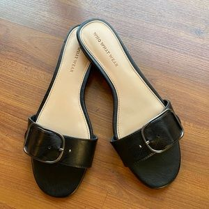 Who What Wear Slide Buckle Sandals